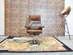 De Sede DS 31 Brown Tan Swiss Leather Antique Vintage 1960s Office Lounge Chair