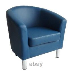 Designer Leather Tub Chair Armchair For Dining Living Room Office Reception