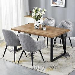 Dining Chair Set Faux Leather Wide Armchair Home Kitchen Working Office Lounge