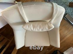 Dwell High Back Swivel Leather Armchair, New. Offers Considered