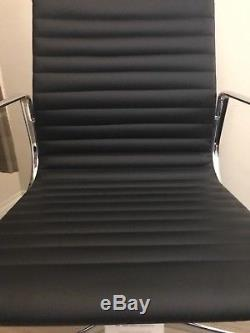Dwell Nexus Black Faux Leather Office Studio Design Contemporary Chair RRP £299