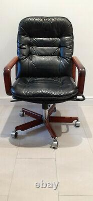 Dyrlund (Danish) Quality Home Executive/Office/Study Leather Chair