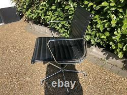 Eames Ea108 Aluminium And Leather Office Chair