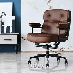Eames Executive Lobby Office Chair Brown Real Leather Game Chair Designer