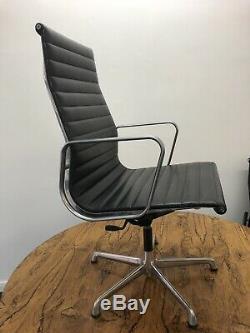 Eames Original ICF EA117 Ali High Back Black Leather Office Chair