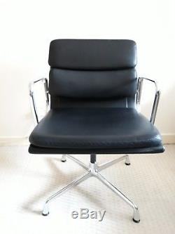 Eames Vitra Aluminium leather Soft Pad Chair