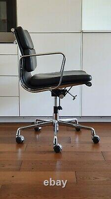 Eames leather softpad chair (in manner of Vitra ICF EA217) for home office work