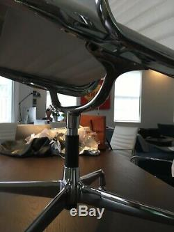 Eames style office chair in real leather. A few months old virtually unmarked