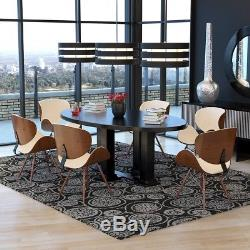 Eiffel Retro Style Dining Chair Faux Leather Lounge Office Chairs Wood Leg  2or4