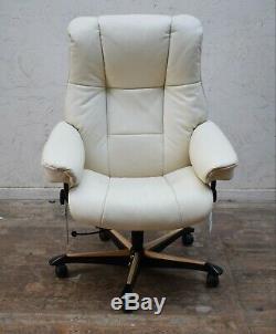 Ekornes Stressless Mayfair Executive Leather Swivel Reclining Office/desk Chair