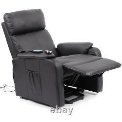 Elecrtic Massage&heated Armchair Lift Assit Recliner Sofa Casual Office Chair Uk