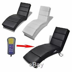 Electric Artificial Leather Lounger Massage Chair Reclining Office Seat Chaise