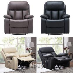 Electric Heated Leather Massage Armchair Recliner Chair Lounger Home Office Sofa
