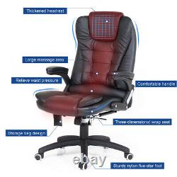 Electric Massage Office Chair Recline Faux Leather Swivel Lift High Back Chair