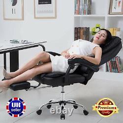 Ergonomic Executive Office Chair PU Leather High-Back Desk Chair Lift Swivel UK