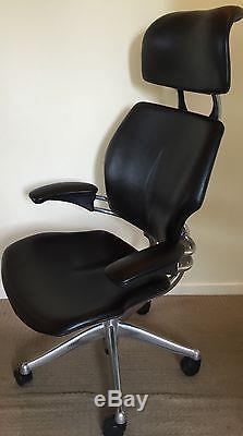 Ergonomic Humanscale Freedom Office Chair In Black Leather With ...