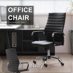 Ergonomic Office Chair PU Leather Computer Desk Chair Swivel Executive High Back