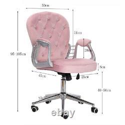 Ergonomic PU/Velvet Office Chair Adjustable Swivel Executive Computer Desk Chair