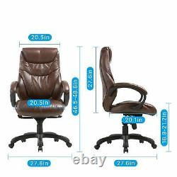 Executive Bonded Leather Chair Chairs Lean Forward High Back for Home office