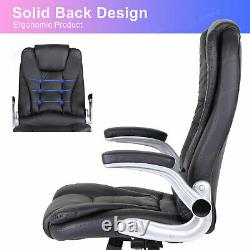 Executive Gaming Computer Desk Office Swivel Recliner Chair PU Leather High Back