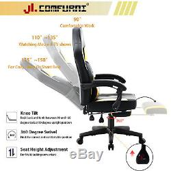 Executive Gaming Home Office Chair Recliner With Footrest Computer Desk Chair
