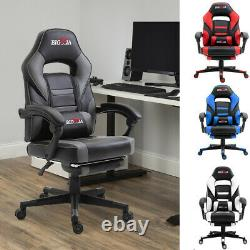 Executive Home Gaming Office Chair Leather Chair Swivel Computer Desk Footrest