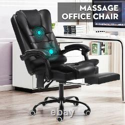 Executive Massage Office Chair Recliner Gaming Chair Computer Leather Swivel New