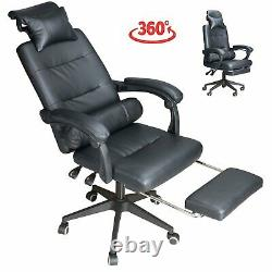 Executive Office Chair Gaming Chair Leather Swivel Recliner Computer Desk Chair