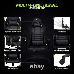 Executive Office Chair Gaming Leather Swivel Computer Desk Chairs Lumbar Support