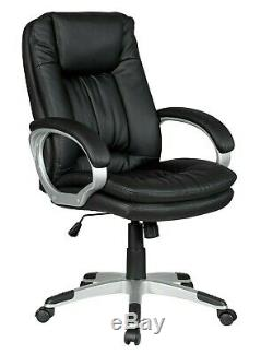 Executive Office Chair PU Leather Padded Swivel Recliner Computer Gaming Seat