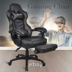 Executive Office Chair Racing Gaming Leather Adjustable Swivel Computer Recliner