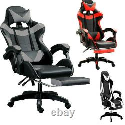 Executive Racing Gaming Chair Computer Office Swivel Recliner Adjustable Leather