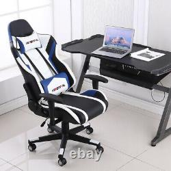 Executive Racing Gaming Chair Office Recliner Computer Desk Chair Home Swivel UK
