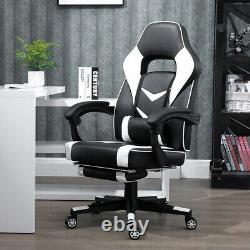Executive Racing Gaming Chair Swivel Lift Office Recliner 90-135° with Footrest