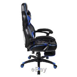 Executive Racing Gaming Computer Office Chair Adjustable Desk Recliner Footrest