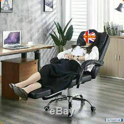 Executive Racing Gaming Computer Office Chair Leather Swivel Recliner Desk Chair
