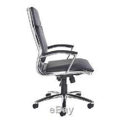 Florence Leather Faced Executive Chair in Black