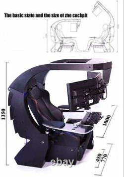 Fly YUTING Boss Office Chair Game Cockpit Gaming Ergonomic Office PC 4K RGB LED