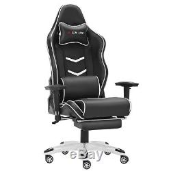 Footrest Office Gaming Chair Racing Executive Lift Recliner Swivel Fx Leather Uk