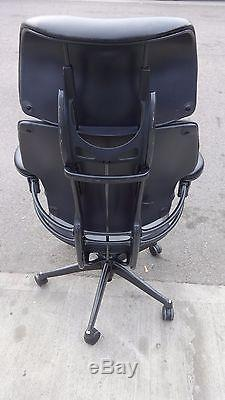 Full Leather Humanscale Freedom High Back Chair With Head Rest