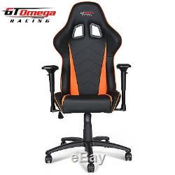 Gt Omega Pro Racing Gaming Office Chair Black Next Orange Leather Esport Seats