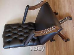 Gainsborogh Chesterfield office swivel chair. Brand new! Leather! Drehstuhl
