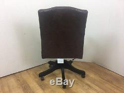 Gainsborough Brown Leather Office Chair