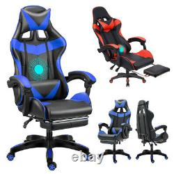 Gaming Chair Racing Reclining Ergonomic PU Leather Office Chair Race Car Style