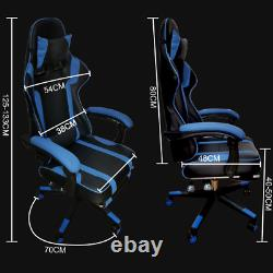 Gaming Leather Computer Chair Swivel Office Chair Recliner Leather Desk Chairs