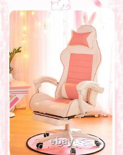 Gaming Racing Chair Office 360° Anchor Swivel Desk Recliner With Pillow Computer