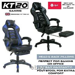 Gaming Racing Chair Office Desk Home Comfort Foot Stool Quality E Sport Swivvel