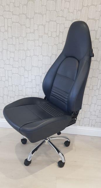 Genuine Porsche 996 Carrera 986 Boxster Sport Seat Office Chair Black Leather