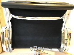 Genuine Vitra Eames EA217 soft pad black leather desk chair SW19
