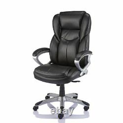 Giuseppe BLACK Bonded Leather Office Chair Executive Padded Graded 95%